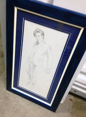 Matt Smith/Eleventh Doctor framed drawing