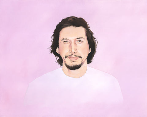 """Portrait of a Man Who is Named Adam Driver"" original oil painting"