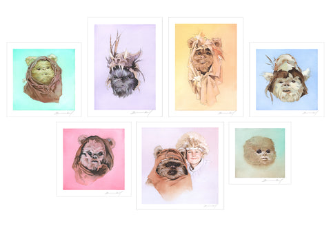 Limited edition Ewok mini-print set