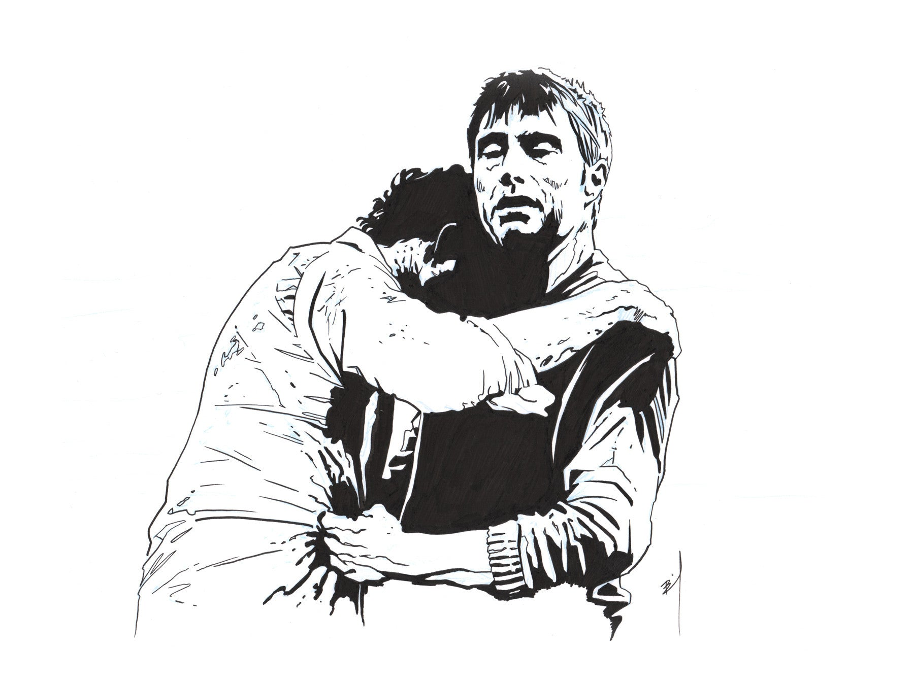 """Hannibal's Embrace"" original ink drawing"