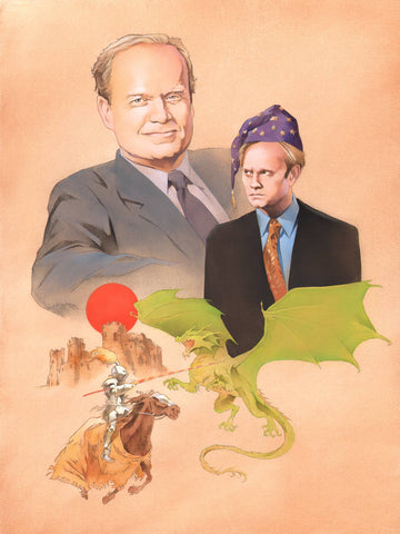 """Fantasy Frasier"" original oil painting"