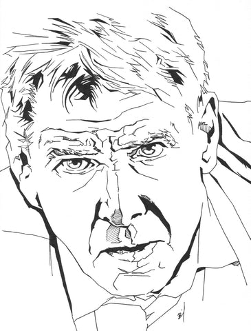 Angular drawing of Harrison Ford