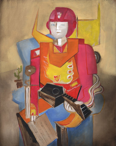 Painting of Hot Rod playing guitar