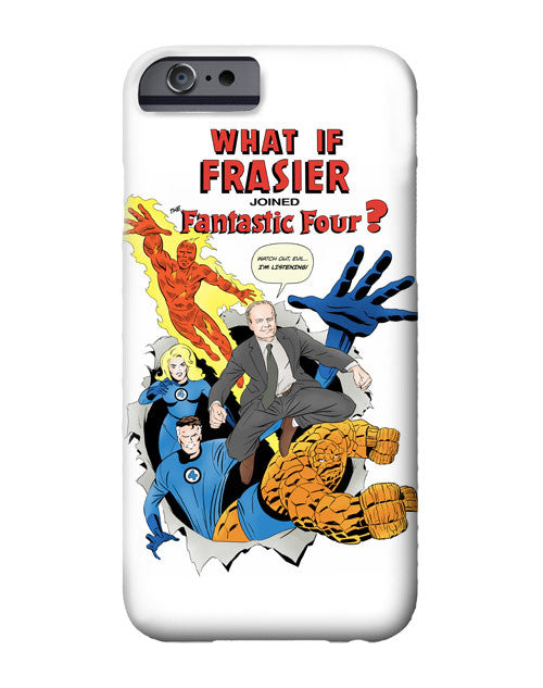 """What If Frasier Joined the Fantastic Four?"" iPhone case"