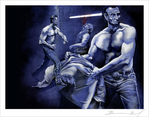 """King of the Cage"" signed print"