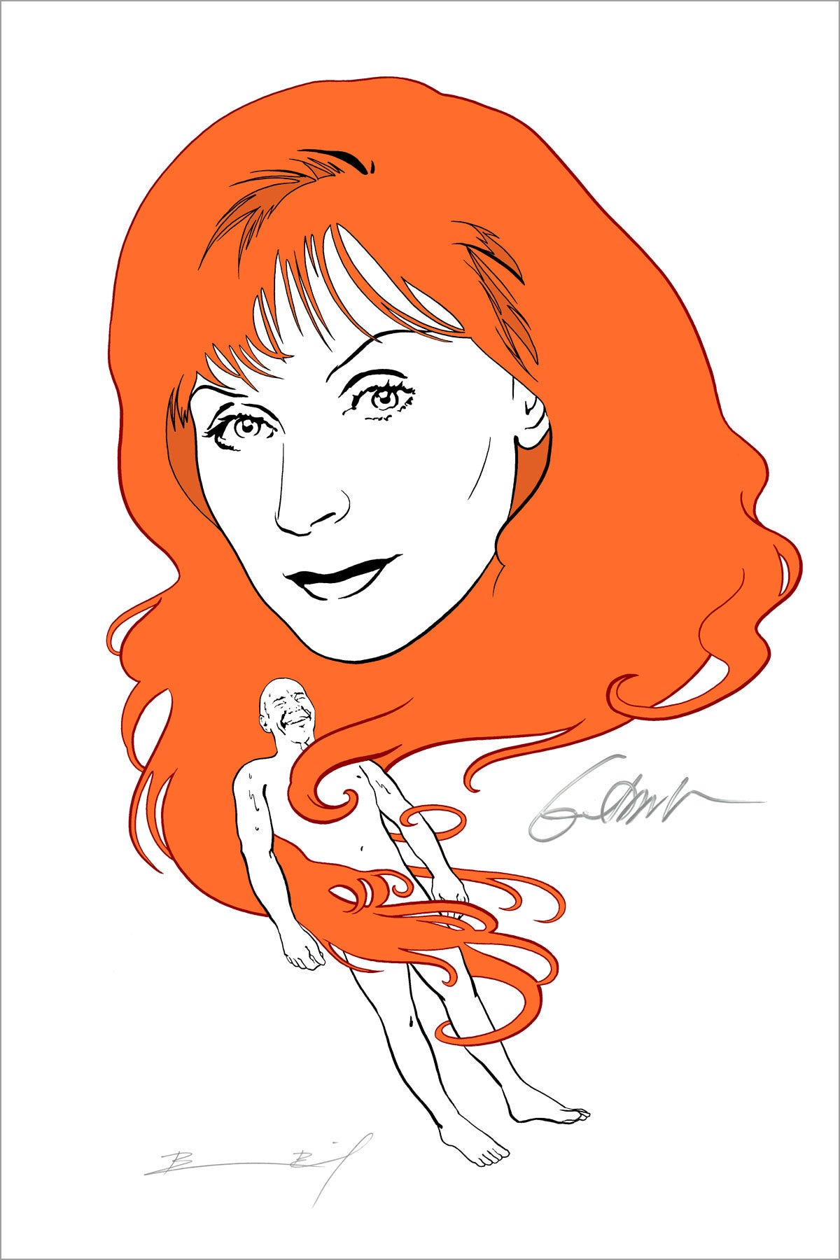"""Fever Dream"" print signed by Gates McFadden"
