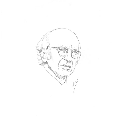 sketch of Larry David