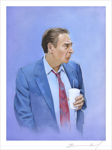 """Man Holding Cup"" signed print"
