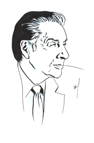 Two extremely similar drawings of Lennie Briscoe