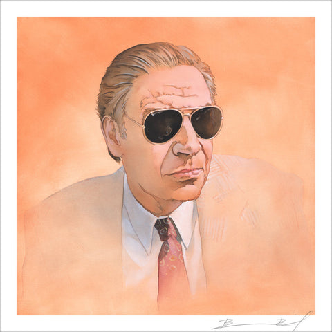 """Man Wearing Sunglasses"" signed print"