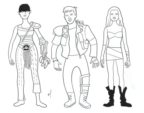 Drawing of Mad Max characters (no. 1)