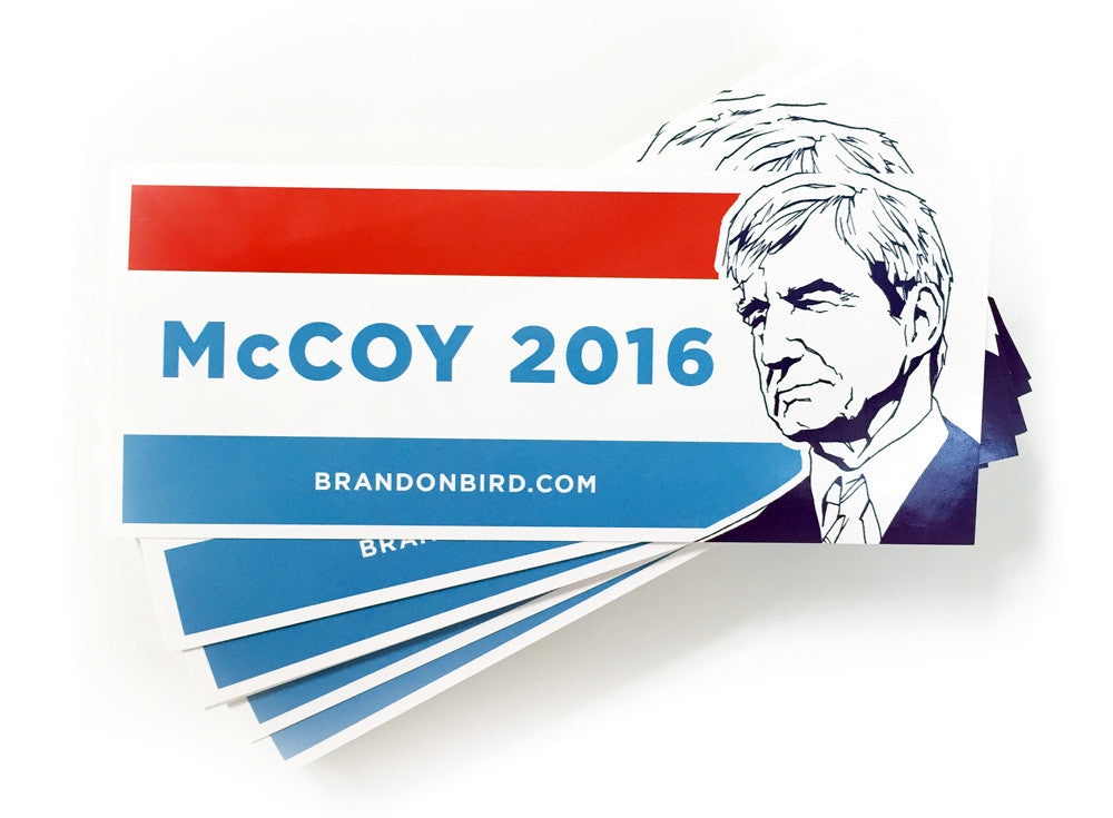McCoy 2016 campaign stickers