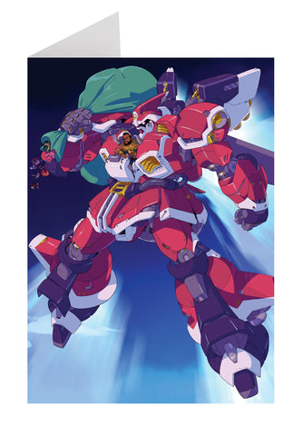 """Mecha T-mas"" greeting cards"
