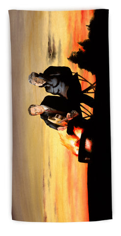 """A Night Away"" beach towel"