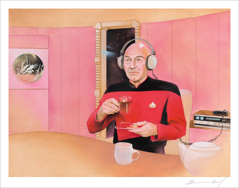 Untitled Captain Picard Project signed print