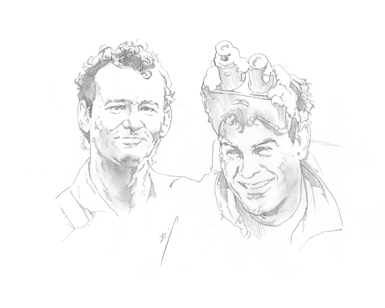 Drawing of Peter and Ray