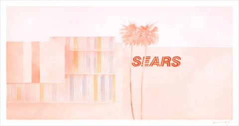 """Sears: Crenshaw"" signed print"