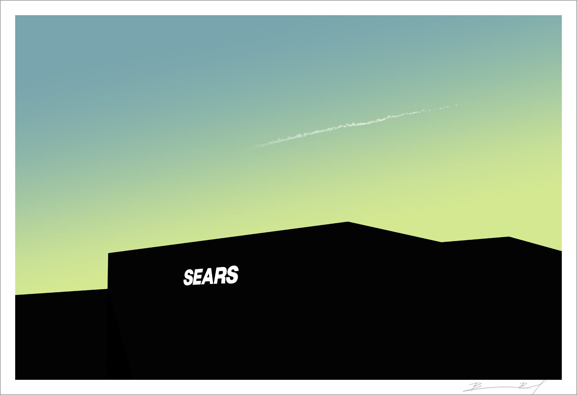 """Sears (Green Dream)"" signed print"