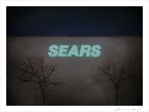 """Night Sears (Flagstaff)"" signed print"