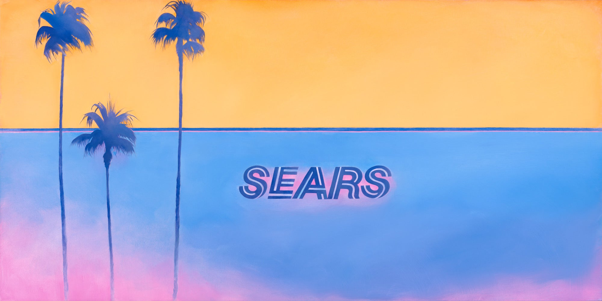 """Sears Vice City"" original oil painting"
