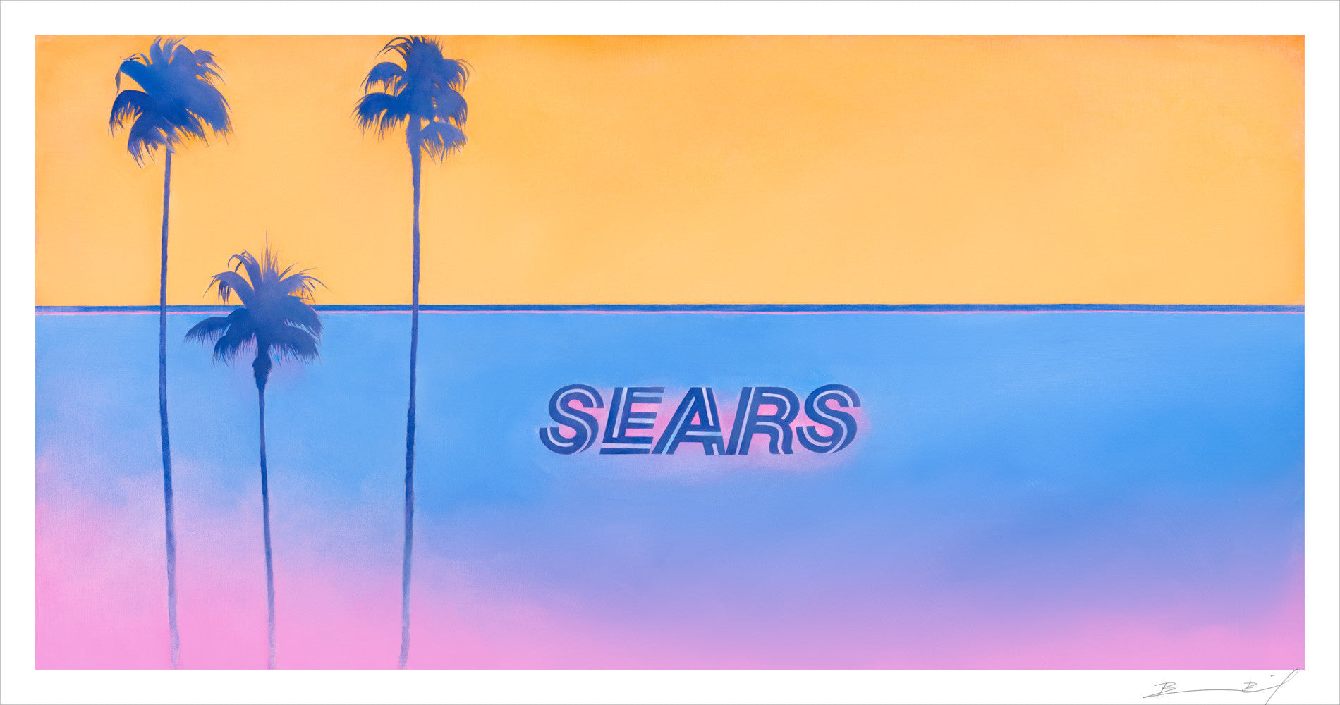 """Sears Vice City (Santa Barbara)"" signed print"