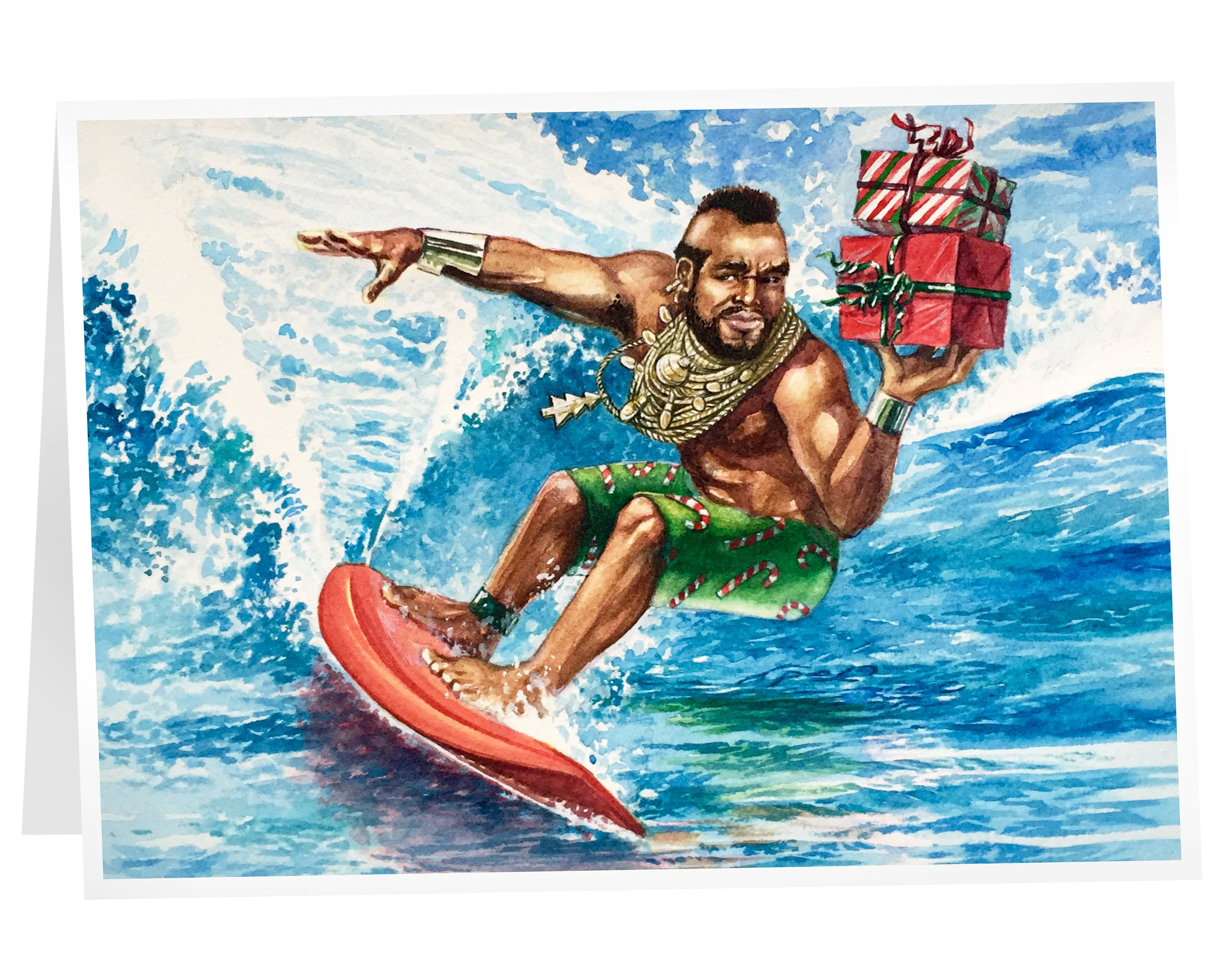 """Surf's Up!!"" T-mas cards"