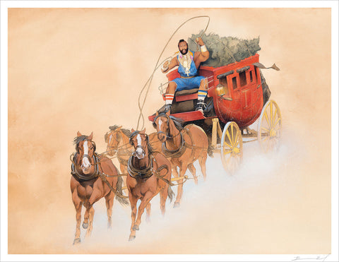 """A Hero Rides Forth"" signed print"