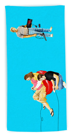 """No One Wants to Play Sega with Harrison Ford"" beach towel"