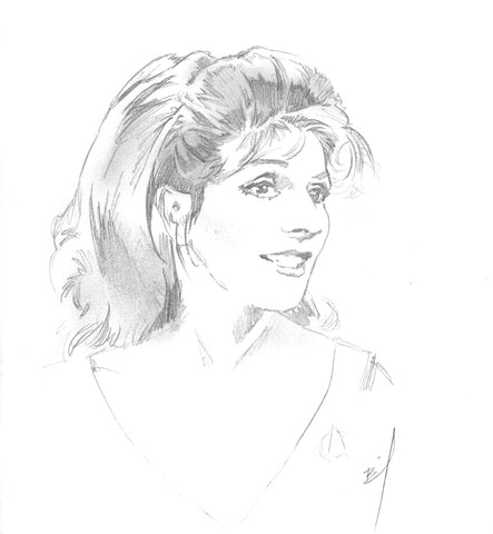 Sketch of Counselor Troi
