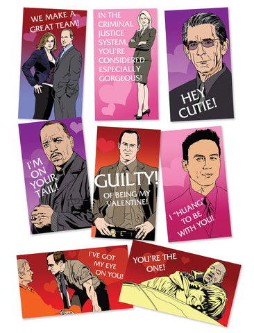 SVU (Special Valentine Unit) mini-card set