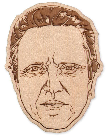 Walken laser-cut wood magnet/keychain