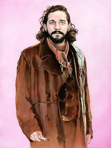 """The War Shia LaBeouf"" original oil painting"