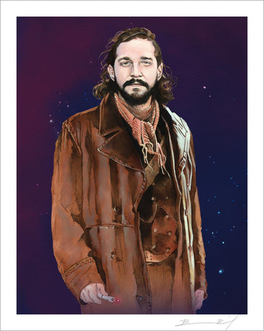 """The War Shia LaBeouf"" signed print"