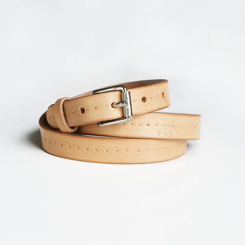 Cutbank Skinny Belt - Natural