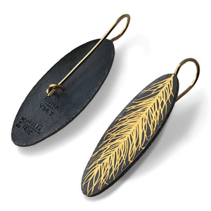 Linear Feather Earring / Made-to-Order