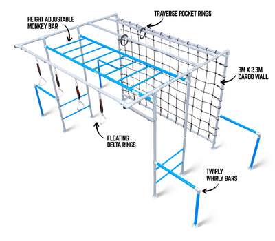 The Spider Monkey Funky Monkey Bar Features