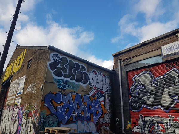 Hackney Wick graffiti tags