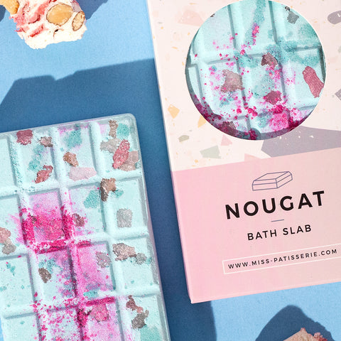 Nougat Vegan Bath Slab Gift For Her