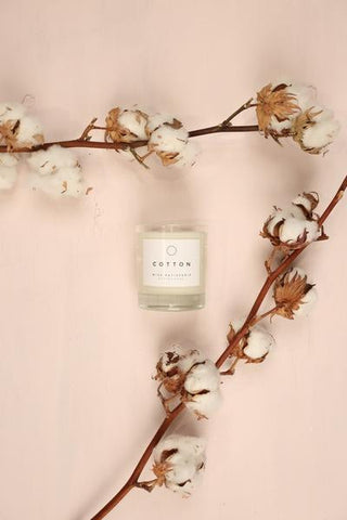 cotton soy wax candle