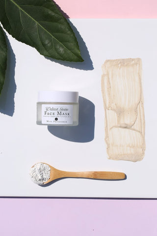 walnut stone powdered face mask