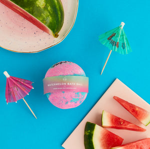watermelon vegan bath bomb