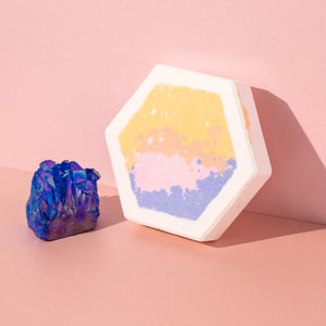 large bath bomb hexagon northern lights