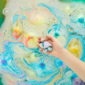 rainbow dust bath crumble