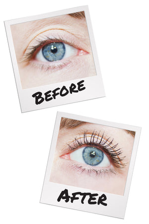 CODE VLM Mini Volumising Lengthening Mascara before and after results