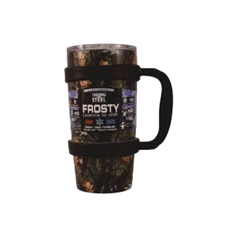 Rugged SA Thermosteel Camo Frosty 590ml Vacuum Tumbler W/Handle