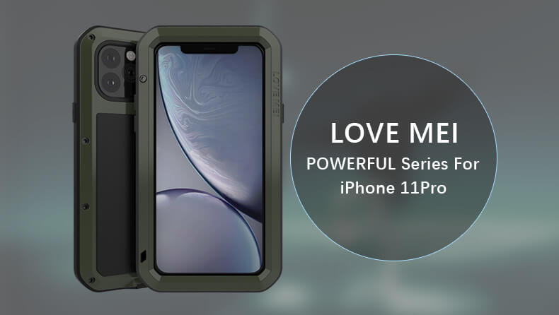 Rugged SA Love Mei iPhone 11 Pro Rugged Cover - Black