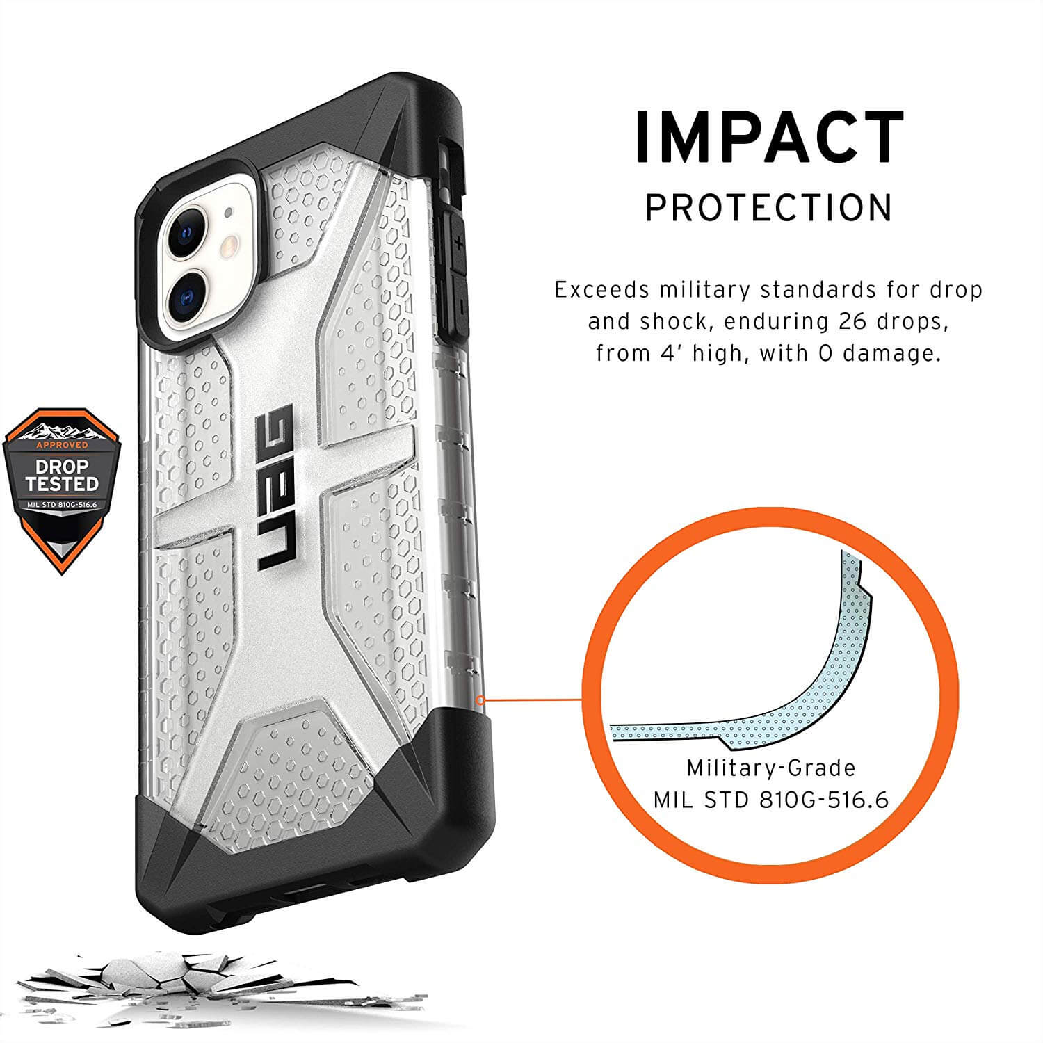 UAG Plasma Series Rugged Cover - iPhone 11, iPhone 11 Pro