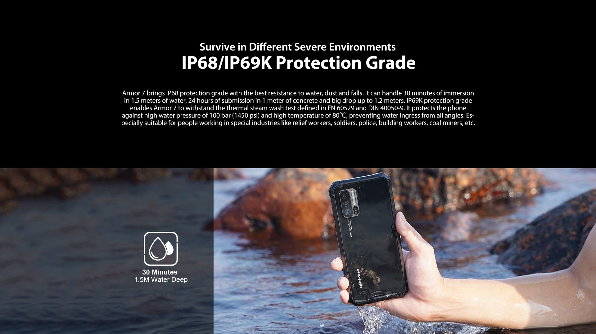 Rugged SA Ulefone Armor 7 Rugged Phone