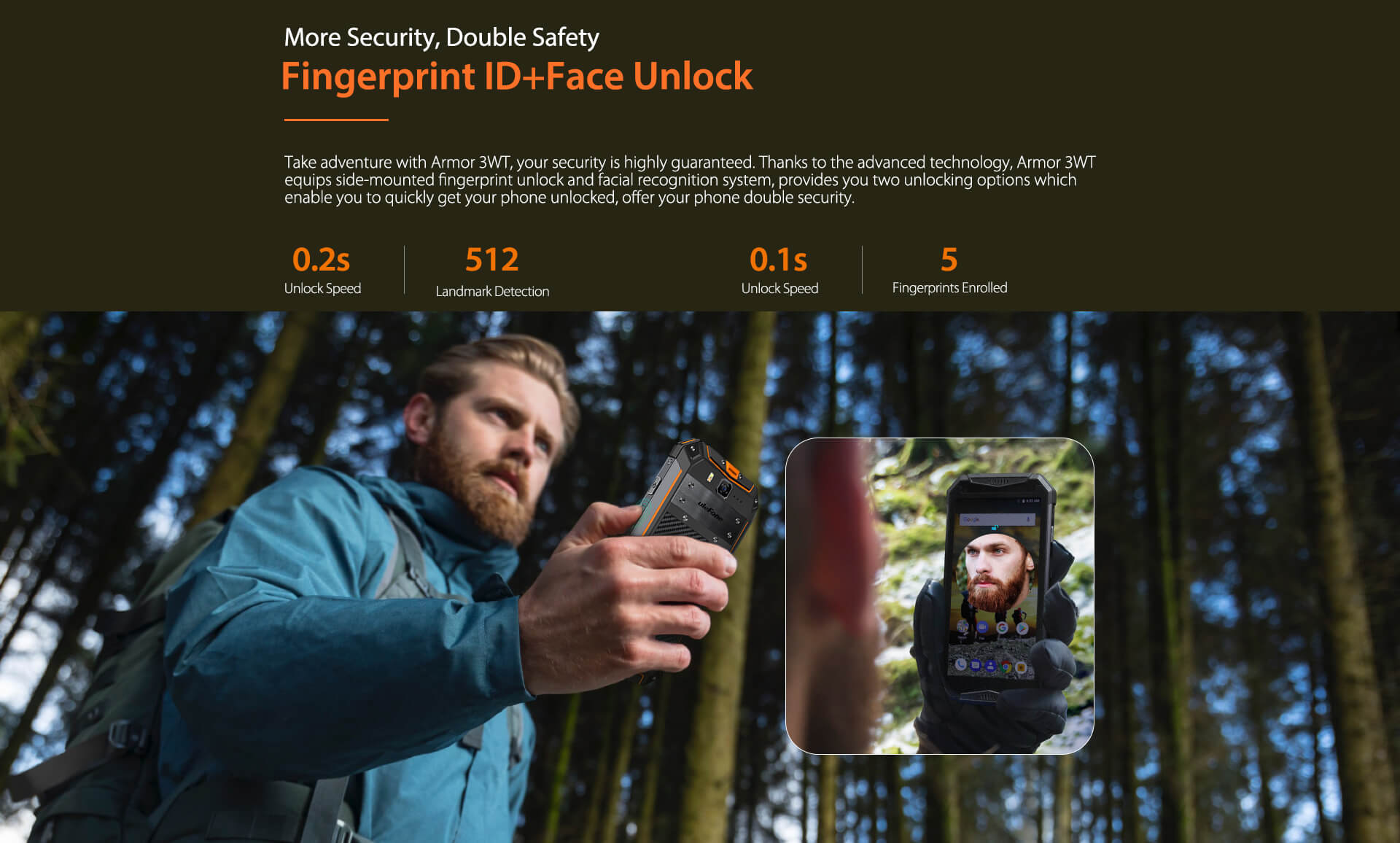 Ulefone Armor 3WT Android 9.0 Rugged Smartphone 6GB 64 GB