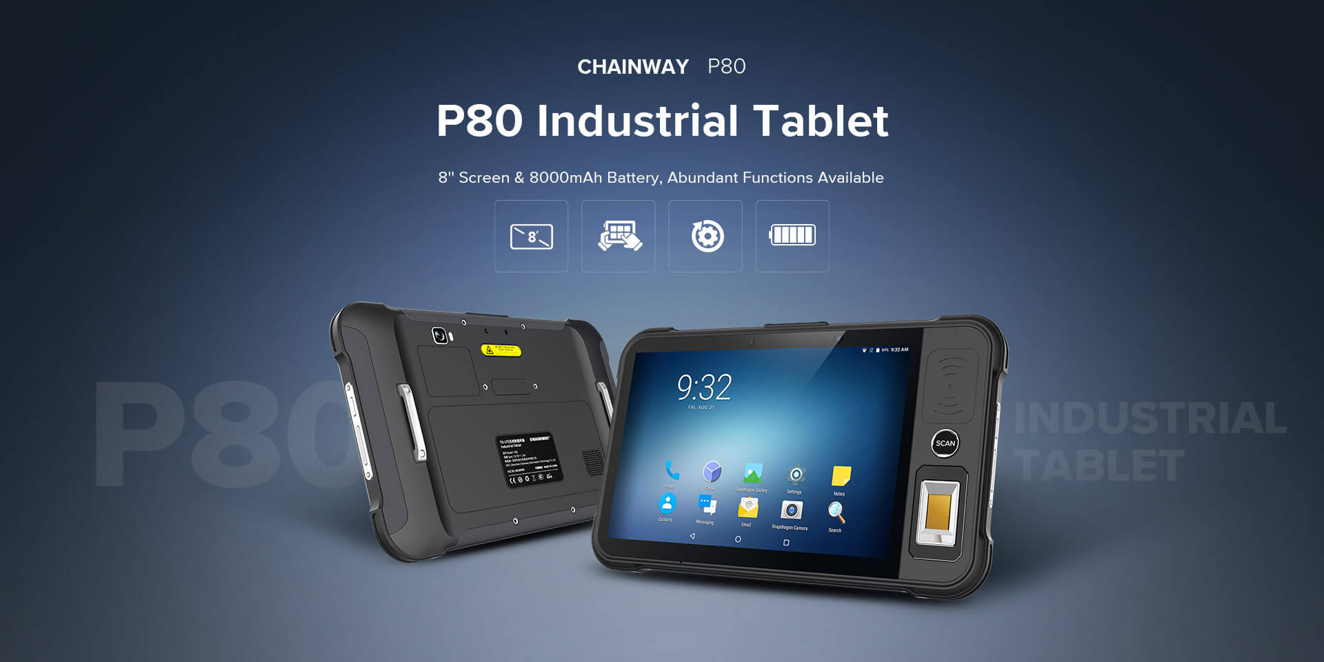 Rugged SA Chainway P80 Rugged Scanning Tablet